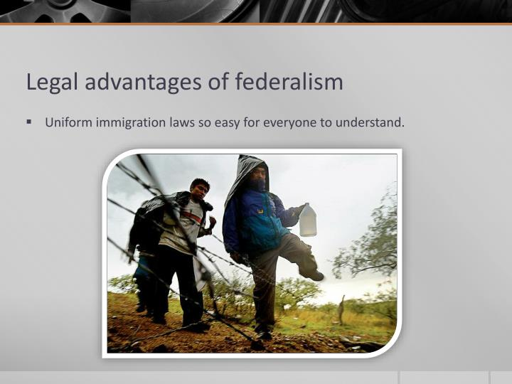 the advantages and disadvantages of federalism in florida Extracts from this document introduction what are the advantages and disadvantages of federalism in the usa in 1787, after long consideration, federalism was.