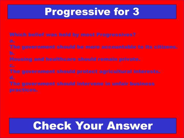 Progressive for