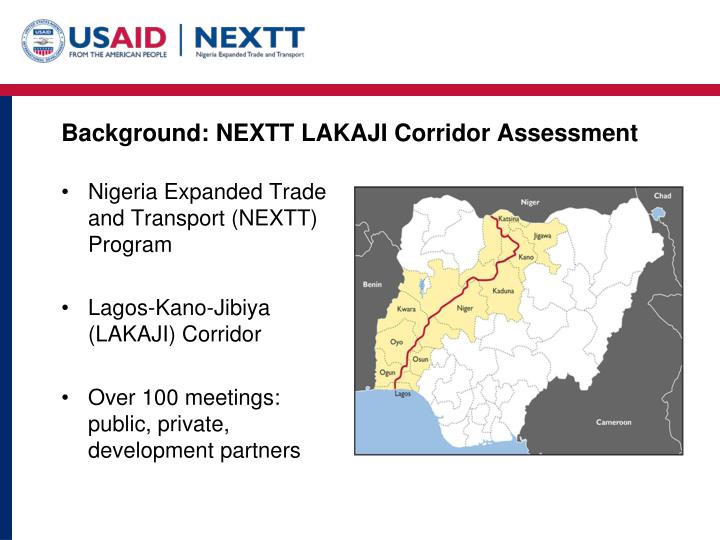 Background nextt lakaji corridor assessment