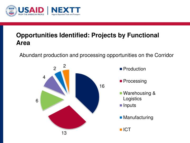 Opportunities Identified: Projects by Functional