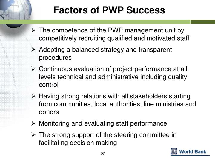 Factors of PWP Success