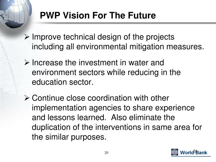 PWP Vision For The Future
