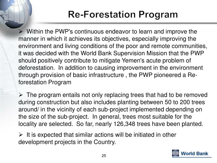 Re-Forestation Program