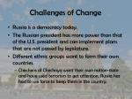 challenges of change