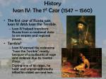 history ivan iv the 1 st czar 1547 1560