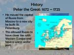 history peter the great 1672 17252