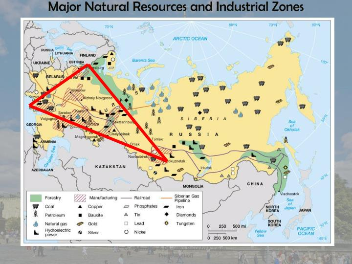 Major Natural Resources and Industrial Zones