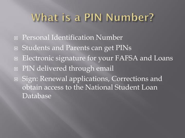 What is a PIN Number?