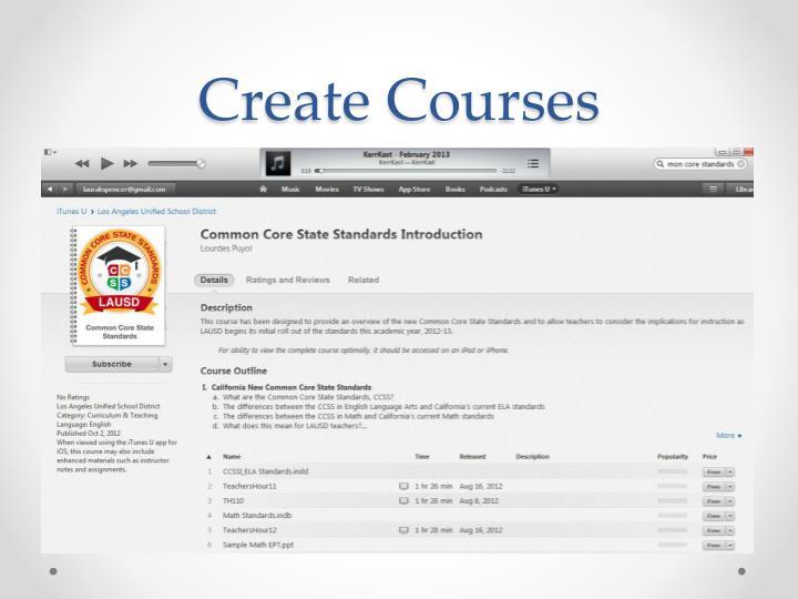 Create Courses