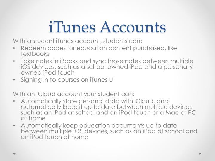 iTunes Accounts