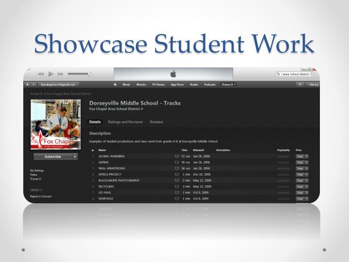 Showcase Student Work