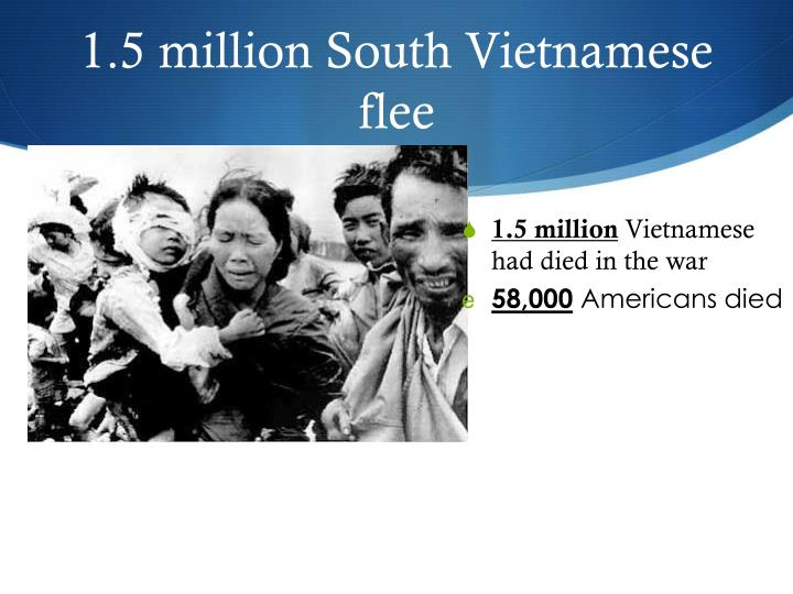 1.5 million South Vietnamese flee