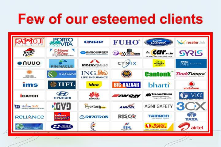 Few of our esteemed clients