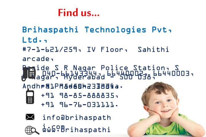 Find us...