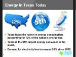 energy in texas today