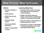 what i ll cover what you ll learn