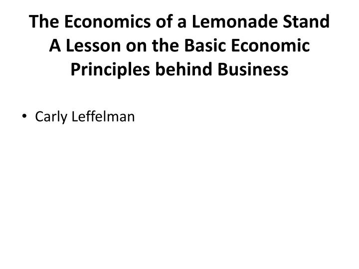 interactive supply demand activity lemonade stand View notes - econ paper interactive supply from econ 101 at ivy tech community college of indiana june 12, 2011 interactive supply & demand activity / simulation while playing the lemonade stand i.
