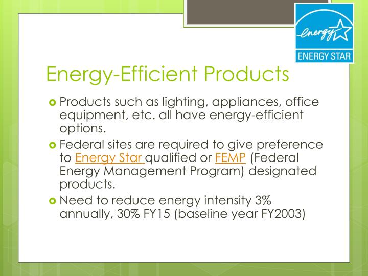 Energy-Efficient Products