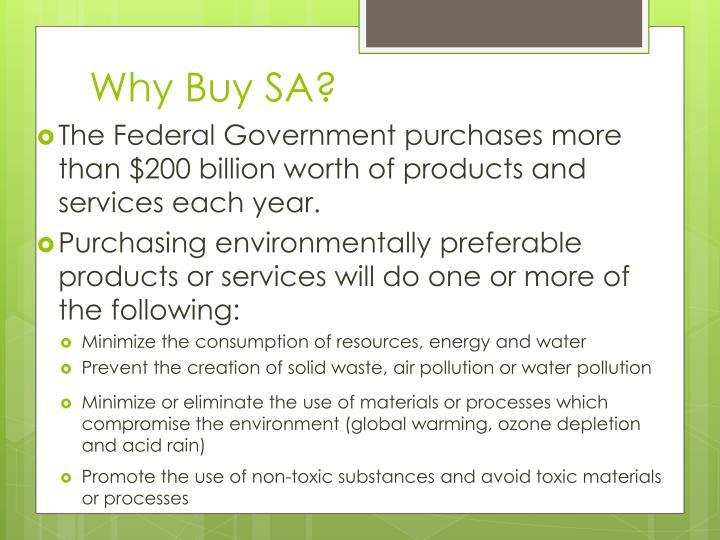 Why Buy SA?