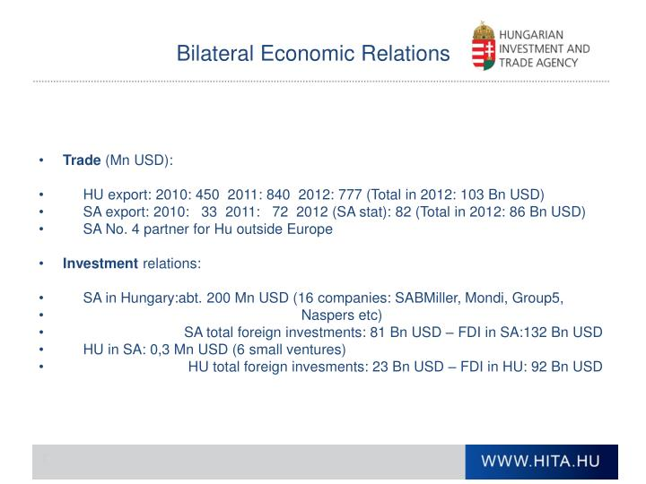 Bilateral Economic Relations