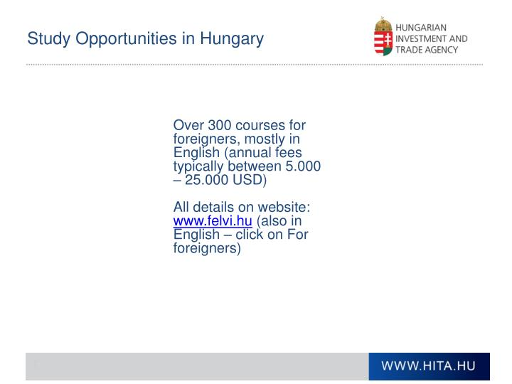 Study Opportunities in Hungary