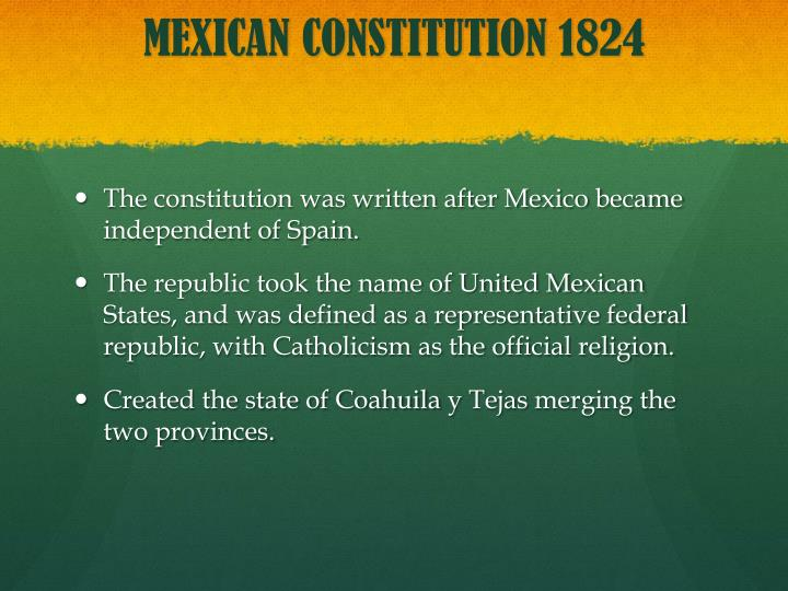MEXICAN CONSTITUTION 1824