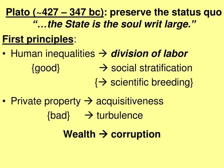 Plato (~427 – 347 bc)