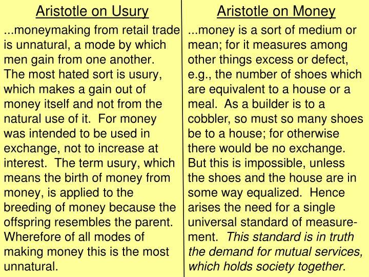 Aristotle on Money
