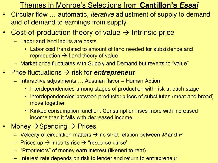 Themes in Monroe's Selections from