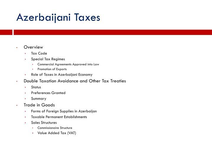 Azerbaijani Taxes