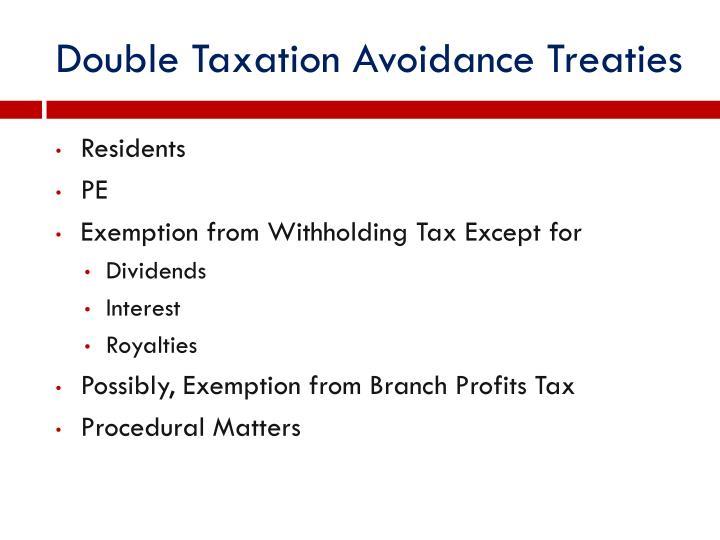 Double Taxation Avoidance Treaties