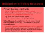 management of family resources