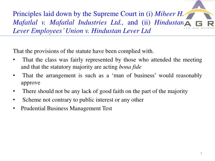 Principles laid down by the Supreme Court in (