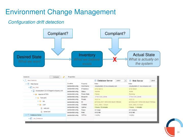Environment Change Management
