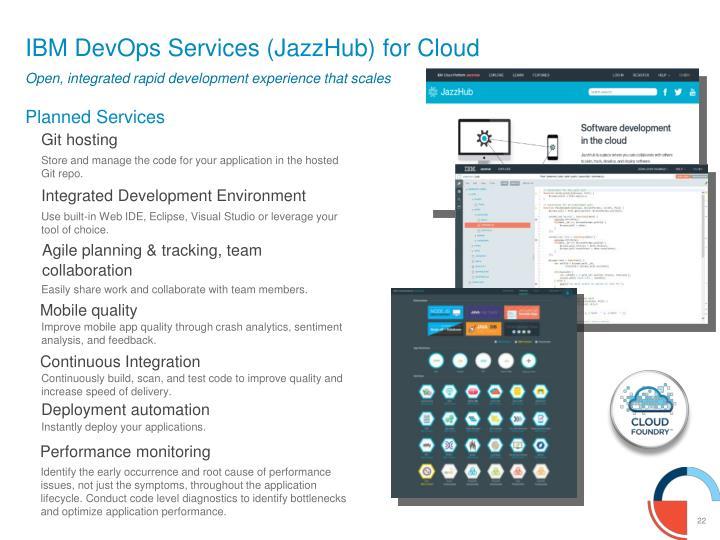 IBM DevOps Services (JazzHub) for Cloud