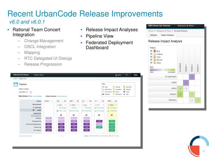 Recent UrbanCode Release Improvements