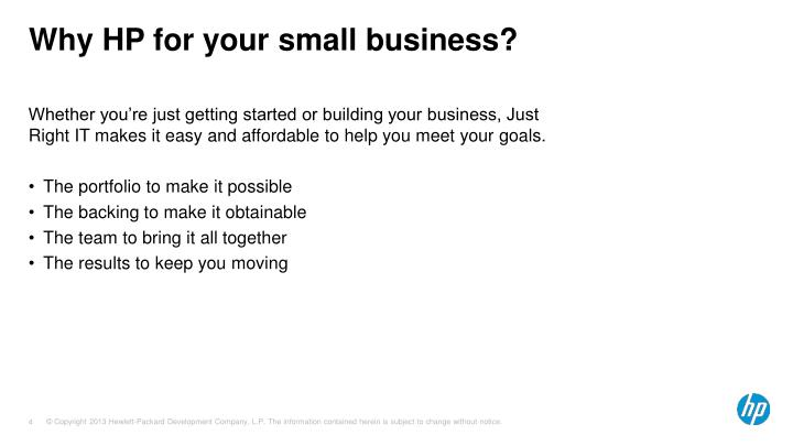 Why HP for your small business?