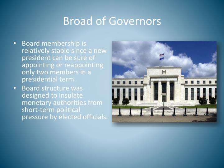 Broad of Governors