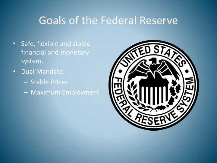 Goals of the Federal Reserve