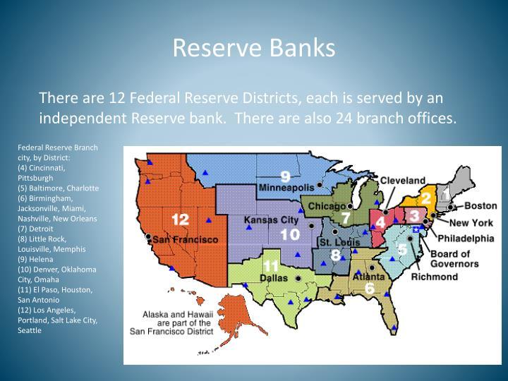 Reserve Banks