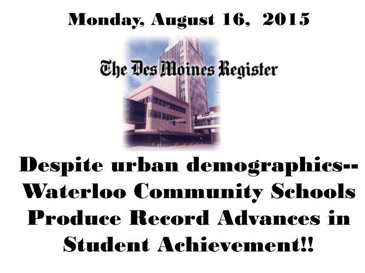 Monday, August 16,  2015