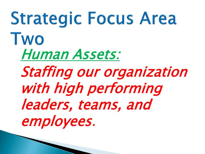 Strategic Focus Area Two