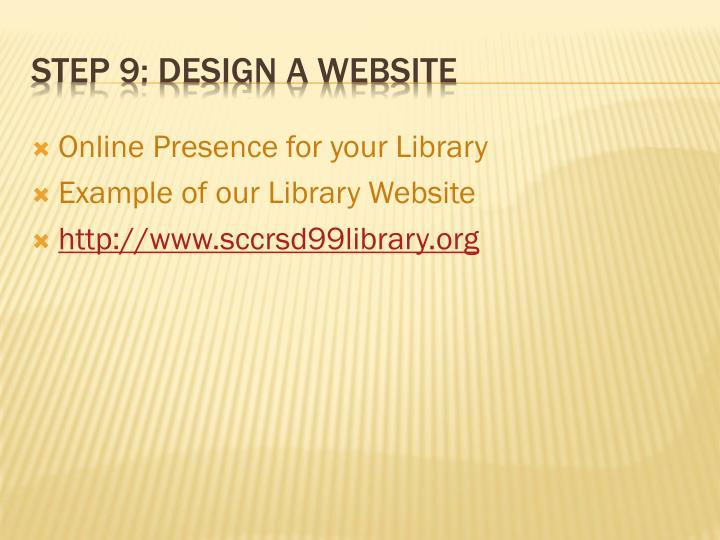 Online Presence for your Library