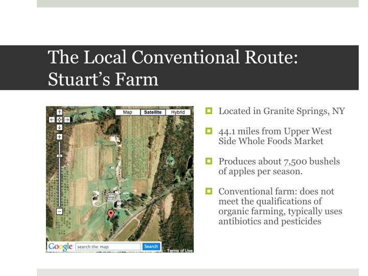 The Local Conventional Route: Stuart's Farm