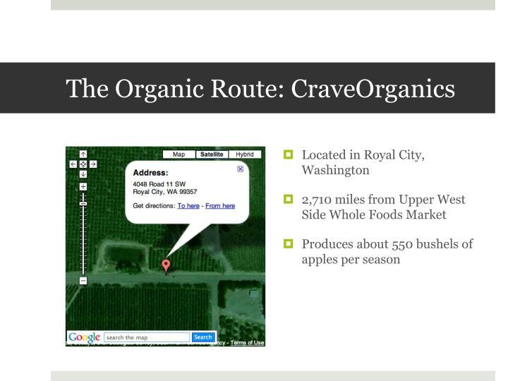The Organic Route: CraveOrganics