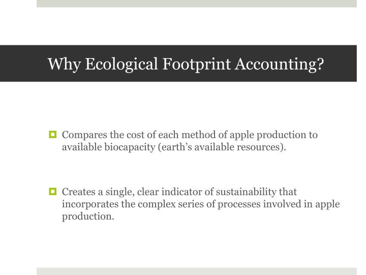 Why Ecological Footprint Accounting?