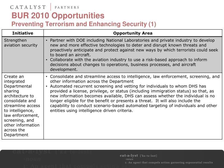 BUR 2010 Opportunities
