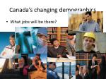 canada s changing demographics
