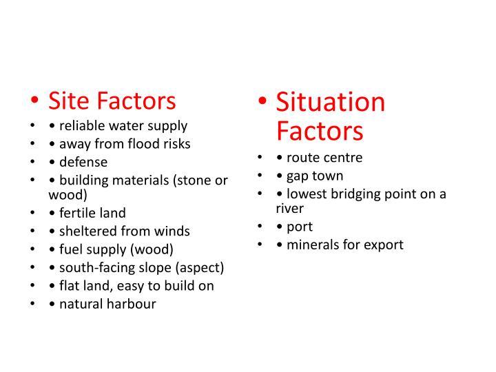 Site Factors