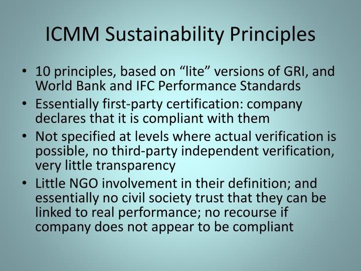 ICMM Sustainability Principles